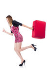 Woman ready for summer holiday Stock Photo