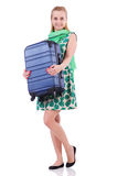 Woman ready for summer holiday Stock Photos
