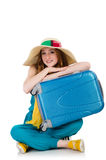 Woman ready for summer holiday Stock Image