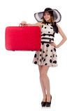 Woman ready for summer holiday Stock Images