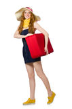 Woman ready for summer holiday Royalty Free Stock Photo
