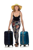 The woman ready for summer travel Stock Photography
