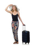 The woman ready for summer travel  Royalty Free Stock Image