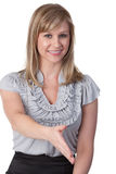 Woman ready to shake hands Royalty Free Stock Photos