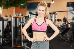 Woman ready for workout Royalty Free Stock Photos
