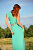 Woman, rear view. Woman, standing with her back Royalty Free Stock Photo