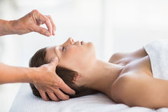 Free Woman Receiving Acupuncture Treatment Stock Images - 77700594