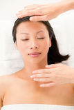 Woman receiving alternative therapy Royalty Free Stock Photos