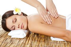 Free Woman Receiving Back Massage Royalty Free Stock Image - 23320826