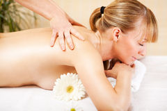Woman Receiving Back Massage Stock Image