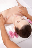 Woman receiving a beauty massage Stock Image