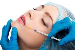 Woman receiving  botox injection Royalty Free Stock Photo