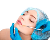 Woman receiving  botox injection Royalty Free Stock Photography