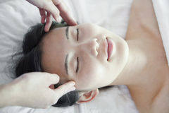 Woman Receiving Head Massage Royalty Free Stock Photo