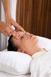 Woman Receiving a Head Massage Royalty Free Stock Photos