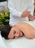Woman Receiving Massage Stock Image