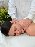 Woman Receiving Massage Royalty Free Stock Images