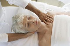 Woman Receiving Massage Stock Image