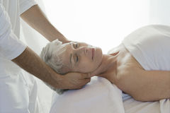 Woman Receiving A Massage Royalty Free Stock Photography