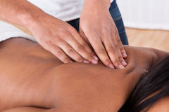 Woman Receiving Massage At Spa Royalty Free Stock Photo