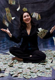 Woman receiving money Stock Photos