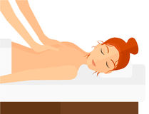 Woman recieving massage Royalty Free Stock Photography