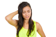Woman recollecting Stock Images