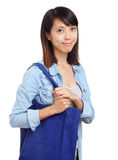 Woman with recycle bag Royalty Free Stock Photo