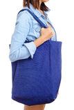 Woman with recycle bag Stock Images