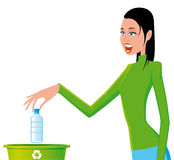 Woman recycling Royalty Free Stock Photography