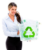 Woman recycling Stock Photos