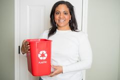 Woman Recycling At Home Royalty Free Stock Image
