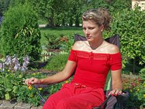 Woman in red 2 Stock Image