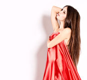 Woman In Red royalty free stock photo