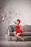 Woman in red Royalty Free Stock Image