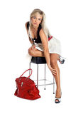 Woman with red bag Royalty Free Stock Photo
