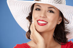 Woman in red Stock Photos