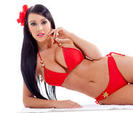 Woman in red bikini Royalty Free Stock Images