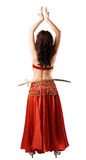 Woman in red costume with saber Royalty Free Stock Photos