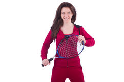 Woman in red costume Stock Photos