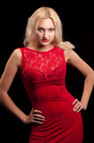 Woman in red dress Royalty Free Stock Image