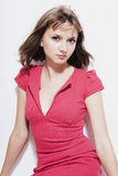 Woman in a red dress Stock Image