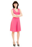 The woman in red dress royalty free stock image