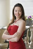 Woman in red dress. Royalty Free Stock Photos