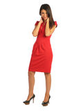 Woman in red dress Royalty Free Stock Images