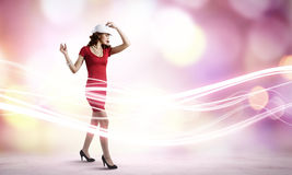 Woman in red Royalty Free Stock Images