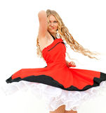 Woman in red dress Stock Image