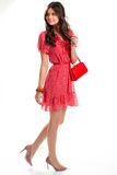 Woman in red dress. Royalty Free Stock Photo