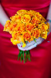 Orange rose bouquet Royalty Free Stock Photos