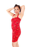 Woman in red dress. Stock Photo